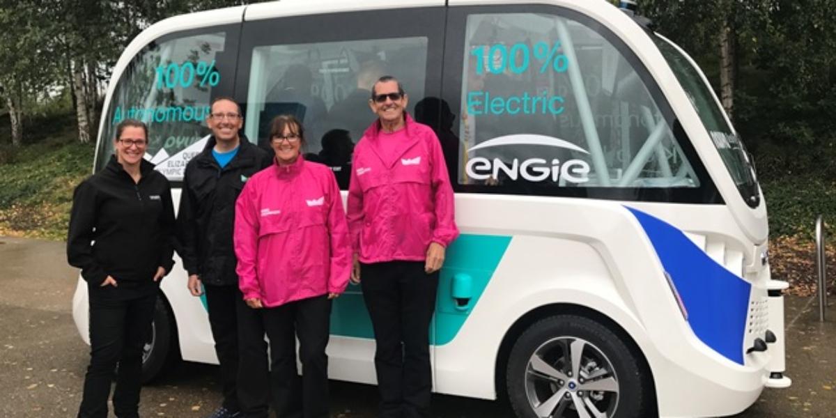 Autonomous bus with Park Champions